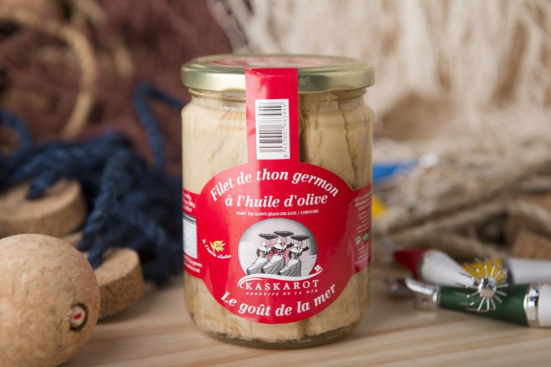 filet de thon germon l 39 huile d 39 olive kaskarot le comptoir du p cheur. Black Bedroom Furniture Sets. Home Design Ideas
