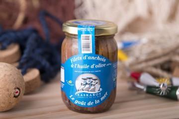 Filets d'anchois a l'huile d'olive