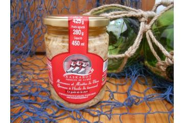 Morceaux et miettes de thon germon à l'huile de tournesol
